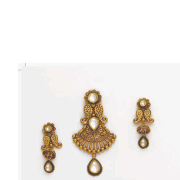 22KT Light weight Gold Pendant Set