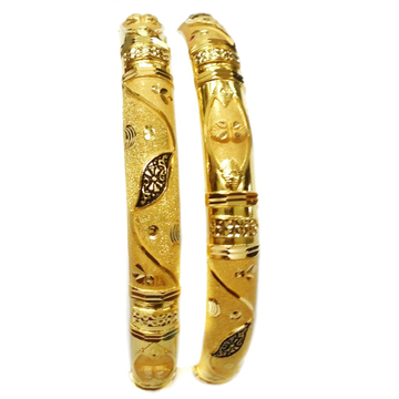 22k Gold Oxidised Fancy Kada Bangles MGA - GP056
