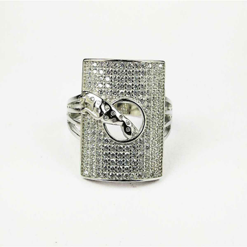 Fancy 925 silver Jaguar gents ring