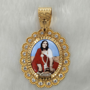 916 Gold Fancy Gent's Sonal Maa Photo Frame Pandal