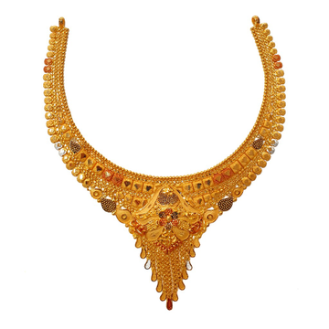 22K Gold Kalkatti Necklace MGA - GN0092
