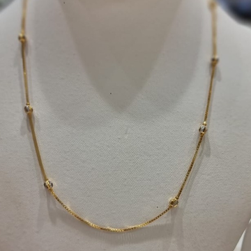 22KT Gold Short Simple Chain