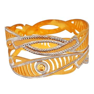 1 gram gold forming 2 piece bangles mga - bge0294