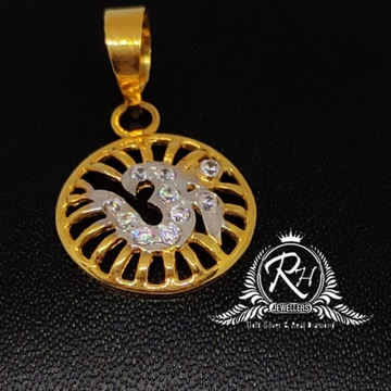 22 carat gold traditional om daimond pendal RH-PL