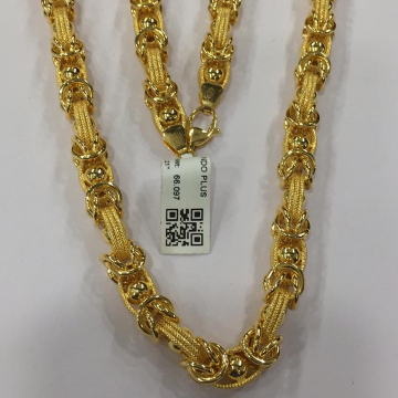 22KT Yellow Gold Navika Chain For Men