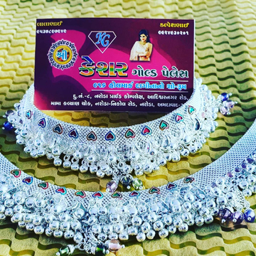 silver marriage fancy payal by Shree Kesar Gold Palace