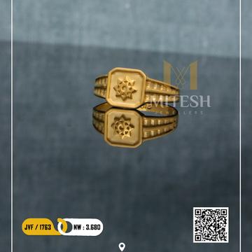 22k/916 MEN PLAIN GOLD RING