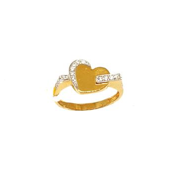 22K Gold Heart Shaped Ring MGA - LRG0386