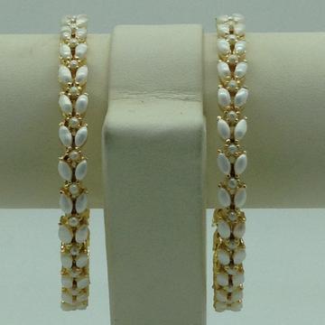 Freshwater White Button Pearls Bangles JBG0301