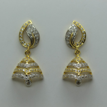 916 latest fancy cz jummar earrings by Shree Sumangal Jewellers