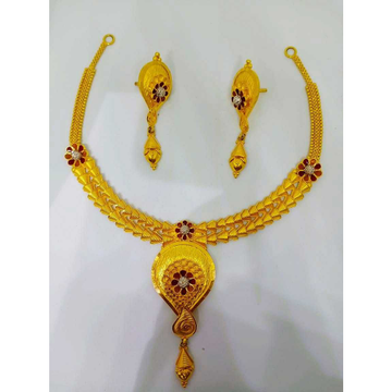 916 gold antique necklace set bj-n016