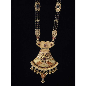 22K Gold Handmade Mangalsutra. NJ-M01121