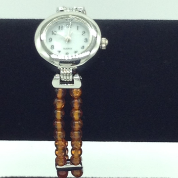 Orange Semi Round Beeds 2 Layers Designer Watch JB...