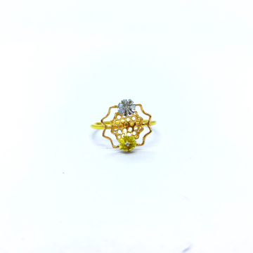 FANCY FLOWER REAL DIAMOND RING by