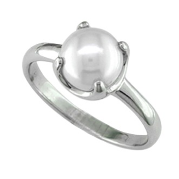 FRESH WATER PEARL SILVER RING by