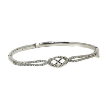 925 Sterling Silver Modern Style Bracelet MGA - BRS0255