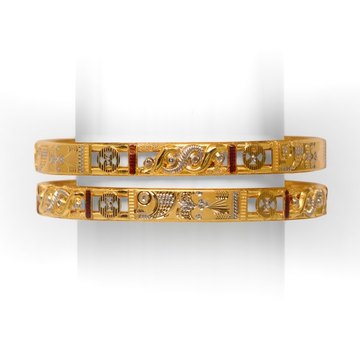 22 KT TRADITIONAL DOUBLE PIPE BANGLE