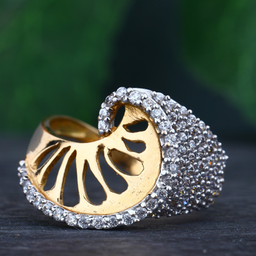 18KT Rose Gold Stylish Ring For Women RhJ-52
