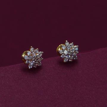 22KT Hallmarked Gemstone Earring by Simandhar Jewellers