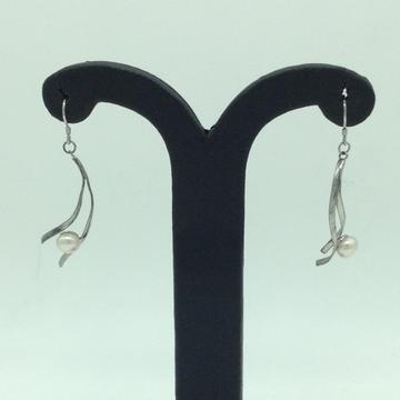 PearlSilverEar HangingsJER0156