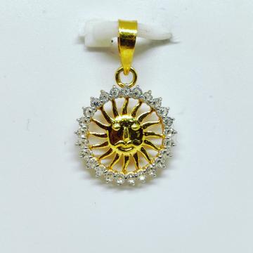 18 KT 750 Hallmark delicate sun diamond Pendent by Harekrishna Gold