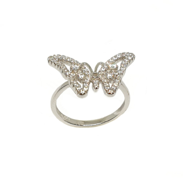 925 Sterling Silver Butterfly Shaped Designer Ring MGA - LRS3472