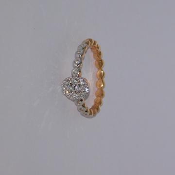 18K gold diamond ring  agj-lr-239
