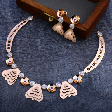 18CT Rose Gold Hallmark Delicate Necklace Set RN100