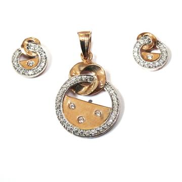 18k rose gold pendant set mga - rps001