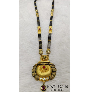 916 gold jadtar mangalsutra by