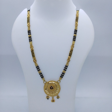 916 GOLD KOLKATI FANCY MANGALSUTRA TJ-034