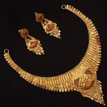 22 Ct 916 Gold Necklace Set by