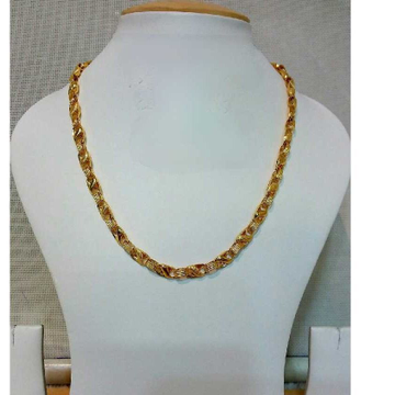 22k Gents Fancy Gold Lotus Chain G-6409