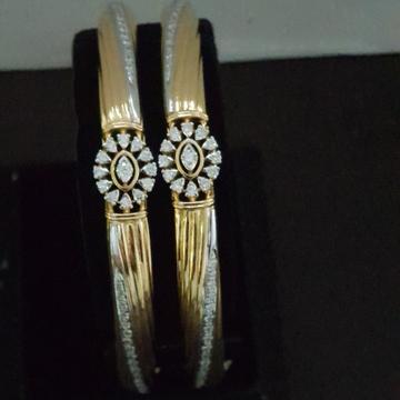 gold fancy diamond bangle kj-b01