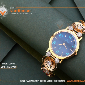 18kt ladies watch by