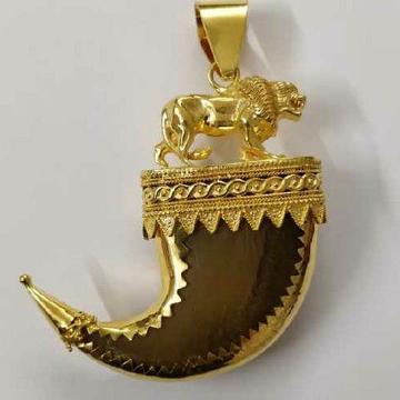 916 Gold Coating Vagh Nakh (Artificial) Pendant