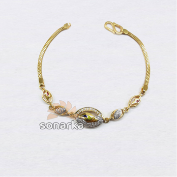 916 Modern Plain Gold Ladies Bracelet