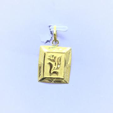 DESIGNING FANCY FLOWER GOLD PENDANT