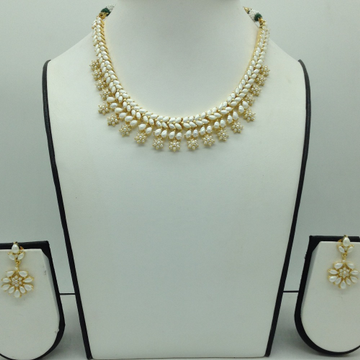 Freshwater White Button Pearls Necklace Set JNC0118