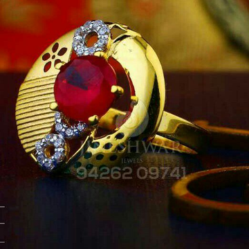 Precious Gold Cz Ladies Ring LRG -0420