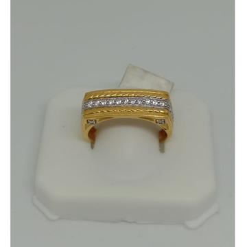 916 Gold CZ Designer Gents Ring MJ-R005