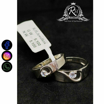 92.5 Silver Fancy Couple Rings RH-CR756