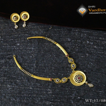 22ct cz gold set by