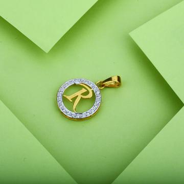 Gold R Letter Pendant-LP12