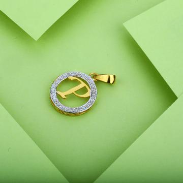 Gold P Letter Pendant-LP08