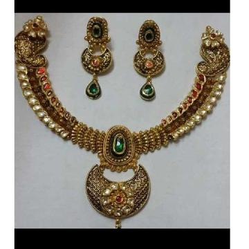 22K Antique Jadtar Necklace Set