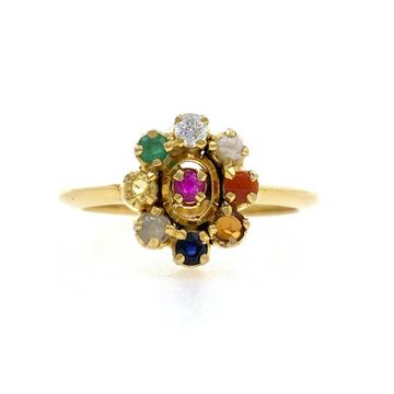 18kt / 750 Yellow Gold Navgrah Ladies Ring 9LR303