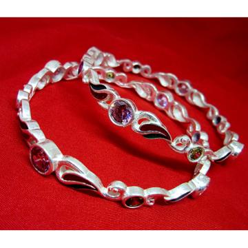 Silver 925 multicolor stone bangles sk925-5