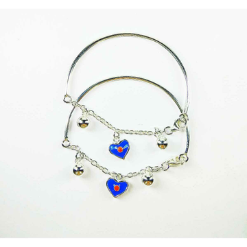 Light weight 925 silver baby bracelet with heart shape