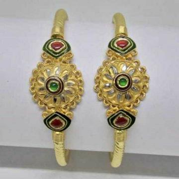 22k Gold Jadatar Bangles by